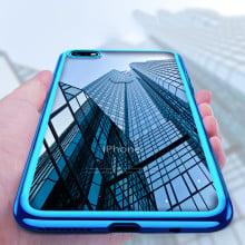 Vaku ® Apple iPhone 6 / 6S Wanchi Series Electroplated Shine Bumper Finish Full-View Display Soft TPU Back Cover