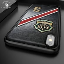 Santa Barbara Polo Club ® Apple iPhone XS Max Third Series 3D Embroidered Design Faux Leather Back Cover