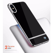 BMW ® Apple iPhone XS Mirror Signature Shine Electroplated Metal Hard Case Back Cover