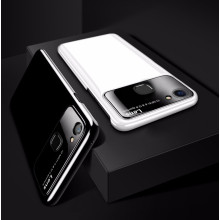 Vaku ® Vivo V7 Plus Polarized Glass Glossy Edition PC 4 Frames + Ultra-Thin Case Back Cover