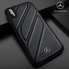 Mercedes Benz ® iPhone XS CLA-CLASS Raven leather Back Cover