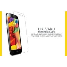 Dr. Vaku ® Micromax A110 Ultra-thin 0.2mm 2.5D Curved Edge Tempered Glass Screen Protector Transparent