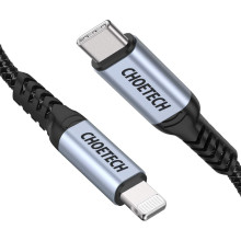 CHOETECH ®  Type C to Lightning Apple MFI Certified Nylon Braided Fast Charging Cable