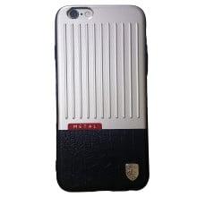 Meephone ® Apple iPhone 6 / 6s  Multi Hybrid Metal + Leather Hard Suitcase Design Back Cover