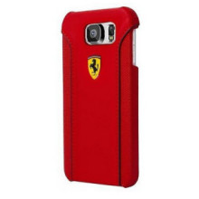 Ferrari ® Samsung Galaxy S6 488 PistaSpider Double Stitched Dual-Material PU Leather Back Cover