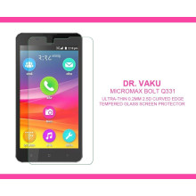 Dr. Vaku ® Micromax Bolt Q331 Ultra-thin 0.2mm 2.5D Curved Edge Tempered Glass Screen Protector Transparent