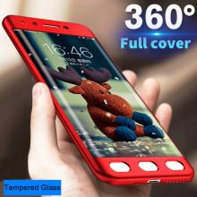 FCK ® Xiaomi Redmi 4 5-in-1 360 Series PC Case Dual-Colour Finish Ultra-thin Slim Front Case + Back Cover
