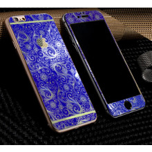 Dr. Vaku ® Apple iPhone 6 / 6S Golden Embossed Floral Design Metallic Finish Tempered Glass (FRONT +BACK)