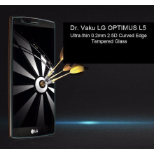 Dr. Vaku ® LG OPTIMUS L5 Ultra-thin 0.2mm 2.5D Curved Edge Tempered Glass Screen Protector Transparent