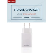 Joyroom ® 2.4A Fast Charging Universal Travel Charger White