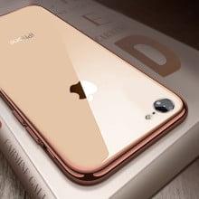 Vaku ® Apple iPhone 8 Chromaina Wireless Edition Soft Chrome 4 Frames Plus Ultra-Thin Case Glass Cover