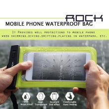 """Rock ® Universal upto 5.5"""" Waterproof Lock Sealed Soft Silicon TPU Bag Pouch Case"""