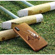 Santa Barbara Polo Club ® Apple iPhone XS Max Jockey Series 3D Embroidered Design Faux Leather Back Cover