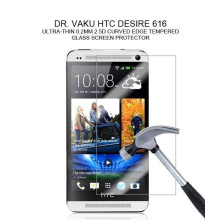 Dr. Vaku ® HTC Desire 616 Ultra-thin 0.2mm 2.5D Curved Edge Tempered Glass Screen Protector Transparent