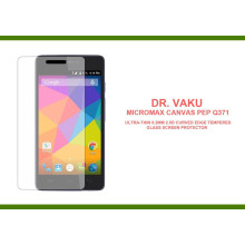 Dr. Vaku ® Micromax Canvas Pep Q371 Ultra-thin 0.2mm 2.5D Curved Edge Tempered Glass Screen Protector Transparent