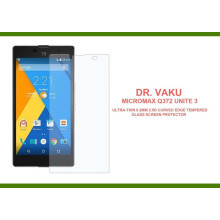 Dr. Vaku ® Micromax Q372 Unite 3 Ultra-thin 0.2mm 2.5D Curved Edge Tempered Glass Screen Protector Transparent