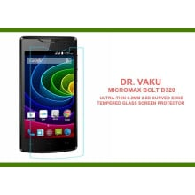 Dr. Vaku ® Micromax Bolt D320 Ultra-thin 0.2mm 2.5D Curved Edge Tempered Glass Screen Protector Transparent