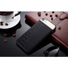 Comma ® Apple iPhone 6 / 6S Luxurious Crocodile Leather Metallic Structural Shine Finish Back Cover