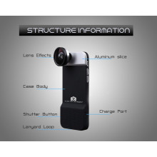 R-JUST ® Apple iPhone 6 / 6S Bluetooth Shuttle Protective Case with Wide-angle/ Macro/ Fisheye Lens Back Cover