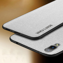 Vaku ® Vivo X21 Luxico Series Hand-Stitched Cotton Textile Ultra Soft-Feel Shock-proof Water-proof Back Cover