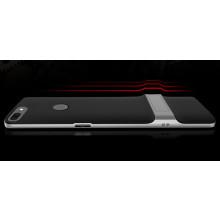 Vaku ® OnePlus 5T Royle Case Ultra-thin Dual Metal Soft + inbuilt stand soft/ Silicon Case