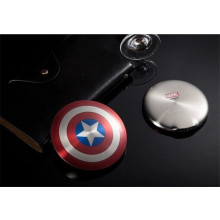 Marvel ® Official Avengers Captain America Shield Dual USB 6,800 mAh Power Bank Metallic Red n Blue