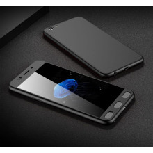 Vaku ® Samsung Galaxy S7 Edge 7D Series PC Case  Dual-Colour Finish 3-in-1 Ultra-thin Slim Front Case + Tempered + Back Cover
