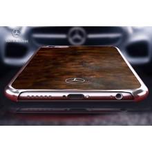 Mercedes Benz ® Apple iPhone 6 Plus / 6S Plus Vintage Natural Wood Chrome Edition