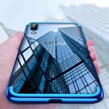 Vaku ® Vivo X21 CAUSEWAY Series Electroplated Shine Bumper Finish Full-View Display + Ultra-thin Transparent Back Cover