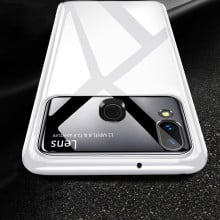 Vaku ® Samsung Galaxy M20 Polarized Glass Glossy Edition PC 4 Frames + Ultra-Thin Case Back Cover