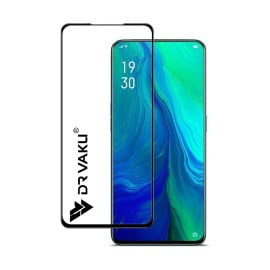 Dr. Vaku ® Oppo Reno 2 Full Edge-to-Edge Ultra-Strong Ultra-Clear Full Screen Tempered Glass- Black