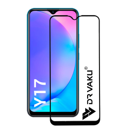 Dr. Vaku ®  Vivo Y17 / Y15 5D Curved Edge Ultra-Strong Ultra-Clear Full Screen Tempered Glass -Black