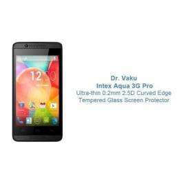 Dr. Vaku ® Intex Aqua 3G Pro Ultra-thin 0.2mm 2.5D Curved Edge Tempered Glass Screen Protector Transparent
