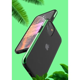 Luxos ® Apple iPhone 11 Glossy Metallic Bezel Series Shock-Proof Case with additional Metallic Bumper Back Cover