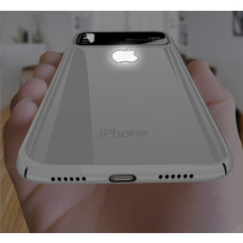 Vaku ® Apple iPhone X Poloroid LED Light Illuminated Apple Logo Polarized Series Case Back Cover