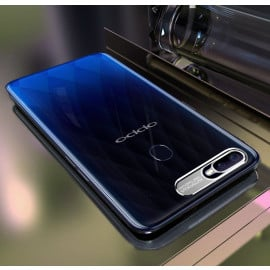 Vaku ® Oppo F9 / F9 Pro Metal Camera Ultra-Clear Transparent View with Anodized Aluminium Finish Back Cover