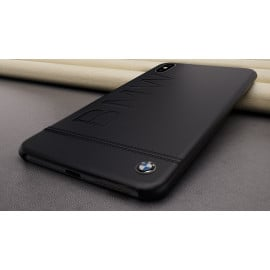 BMW ® Apple iPhone XS Max Official Racing Leather Case Limited Edition Back Cover