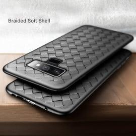Vaku ® Samsung Galaxy Note 9 WeaveNet Series Cross-Knitt Heat-Dissipation Edition Ultra-Thin TPU Back Cover