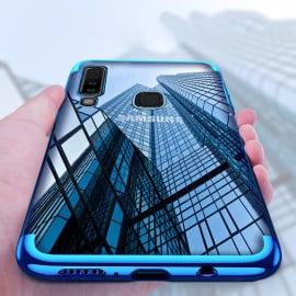 Vaku ® Samsung Galaxy A9 (2018) CAUSEWAY Series Electroplated Shine Bumper Finish Full-View Display + Ultra-thin Transparent Back Cover