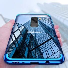 Vaku ® Samsung Galaxy J8 CAUSEWAY Series Electroplated Shine Bumper Finish Full-View Display + Ultra-thin Transparent Back Cover