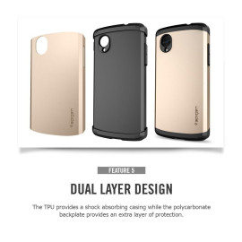 Spigen ® LG Google Nexus 5 Slim Armor Case Back Cover