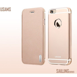 Usams ® Apple iPhone 6 Plus / 6S Plus Sailling Metallic Chrome Finish Flip Cover
