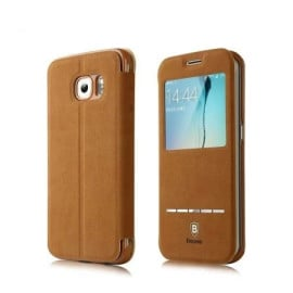 Baseus ® Samsung Galaxy S6 Smart Terse WindowView Suede Leather Case Flip Cover