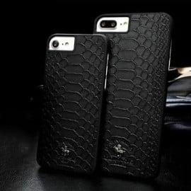 Santa Barbara Polo Club ® Apple iPhone 8 Knight Series Crocodile Finish PU Leather Back Cover