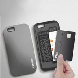 Verus ® Apple iPhone 6 / 6S Pebble Curved Ultra Glossy + Inbuilt Cardholder Back Cover