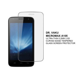 Dr. Vaku ® Micromax A105 Ultra-thin 0.2mm 2.5D Curved Edge Tempered Glass Screen Protector Transparent