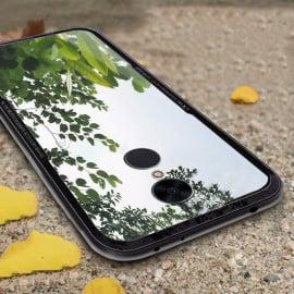 Vaku ® Xiaomi Redmi 5 GLASSINO Luxurious Edition Ultra-Shine Silicone Frame Ultra-Thin Case Transparent Back Cover
