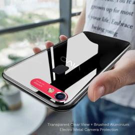 Vaku ® Vivo V7 Metal Camera Ultra-Clear Transparent View with Anodized Aluminium Finish Back Cover
