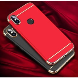 Vaku ® Xiaomi Redmi 6 Pro Ling Series Ultra-thin Metal Electroplating Splicing PC Back Cover