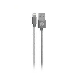 WK Design ® Metal Steel Spring In-destructable Ultra-Durable Long-Life Apple Lightning Port Charging / Data Cable